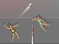 Куклы играют в волейбол