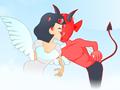 Дьявол и ангел целуются