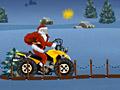 Санта на квадроцикле
