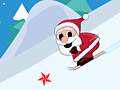 Санта на лыжах