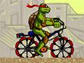 Черепашки ниндзя на велосипеде