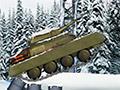 Перестрелка на зимних танках