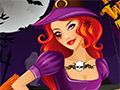 Татуировка ведьмы на Хэллоуин