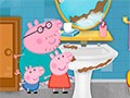 Свинка Пеппа моет ванную