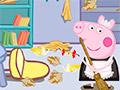 Свинка Пеппа убирается в комнате
