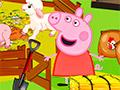 Свинка Пеппа кормит животных