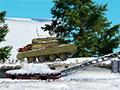 Зимний яростный взрыв танка