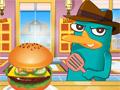 Перри готовит американский гамбургер
