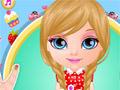 Малышка Барби: арбузный маникюр