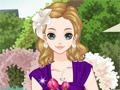 Девушка на цветочной свадьбе