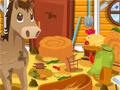 Уборка на конной ферме