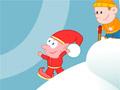 Пинбол снежком