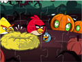 Пазл Хэллоуин злых птиц