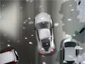 Зимняя парковка спортивного автомобиля