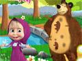 Маша и медведь попали под дождь