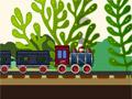 Движение поезда с углем