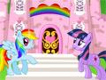 Блестящий замок маленьких пони