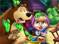 Маша и медведь: озорство на кухне