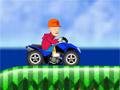 Лысый на мотоцикле