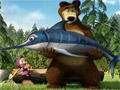 Маша и Медведь пошли на рыбалку