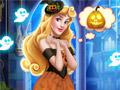 Замок Спящей принцессы на Хэллоуин
