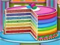 Вкусный радужный торт