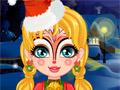 Рождественские рисунки на лице
