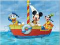 Пазл: Микки на лодке