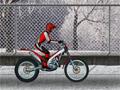 Мототриал: езда по снегу