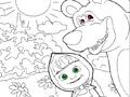 Маша и медведь в лесу