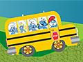 Смурфики на школьном автобусе
