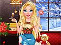 Рождественский макияж Барби