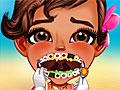 Малышка Моана у стоматолога