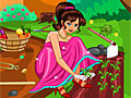 Барби убирает в саду