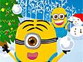 Миньоны: Игра в снежки