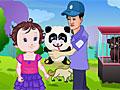 Малышка Лизи и новорожденный панда