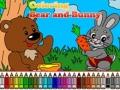 Раскраска: Медвежонок и кролик