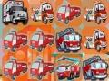 Три в ряд с пожарными грузовиками