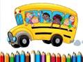 Школьный автобус раскраска