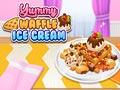 Вкусное мороженое с вафлями